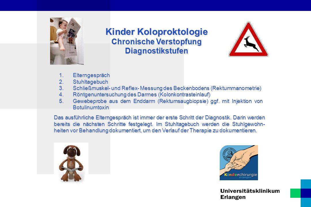 Kinder Koloproktologie Chronische Verstopfung