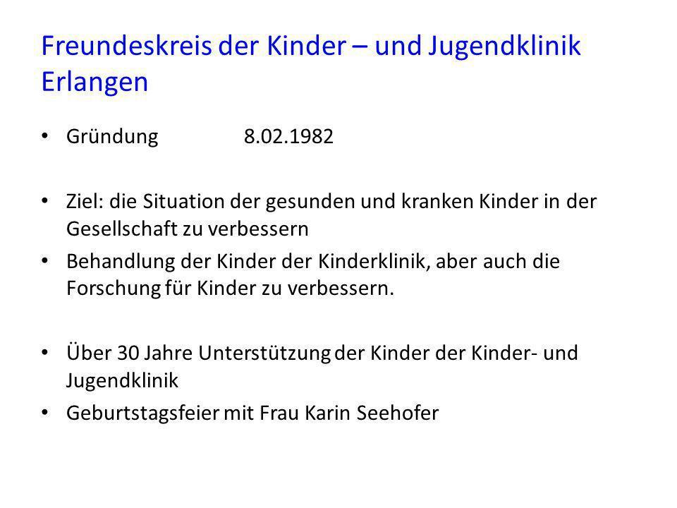 Freundeskreis der Kinder – und Jugendklinik Erlangen