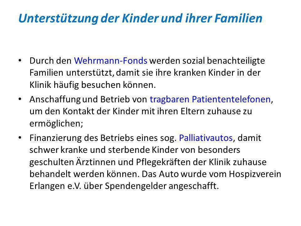 Unterstützung der Kinder und ihrer Familien