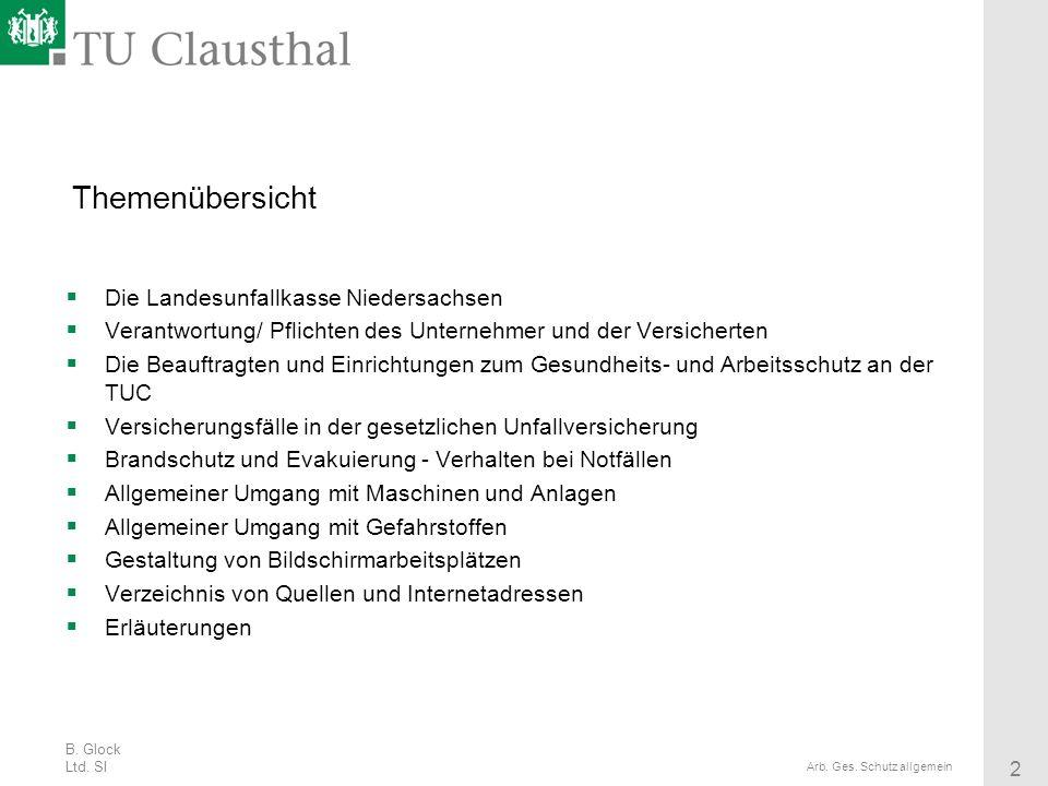 Themenübersicht Die Landesunfallkasse Niedersachsen
