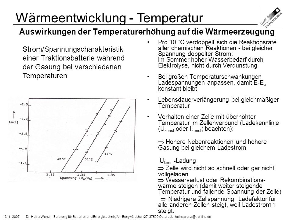 Auswirkungen der Temperaturerhöhung auf die Wärmeerzeugung