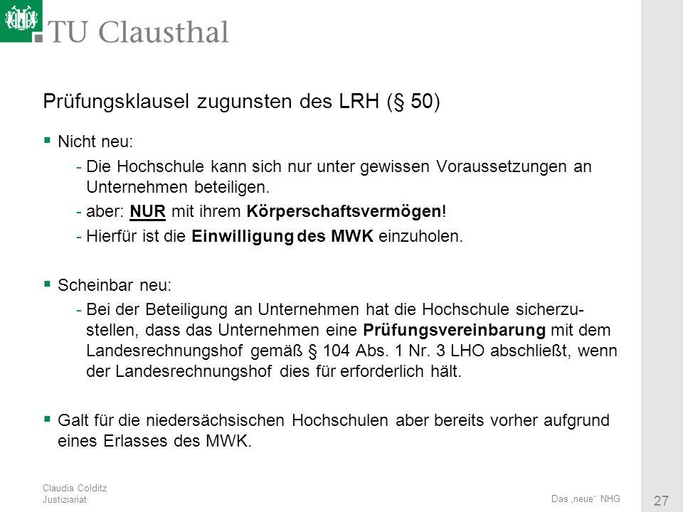 Prüfungsklausel zugunsten des LRH (§ 50)