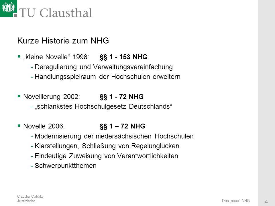 """Kurze Historie zum NHG """"kleine Novelle 1998: §§ 1 - 153 NHG"""