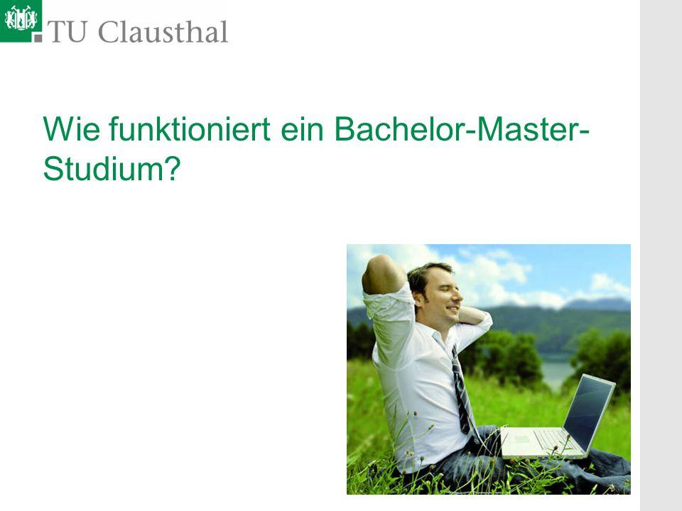 Wie funktioniert ein Bachelor-Master-Studium