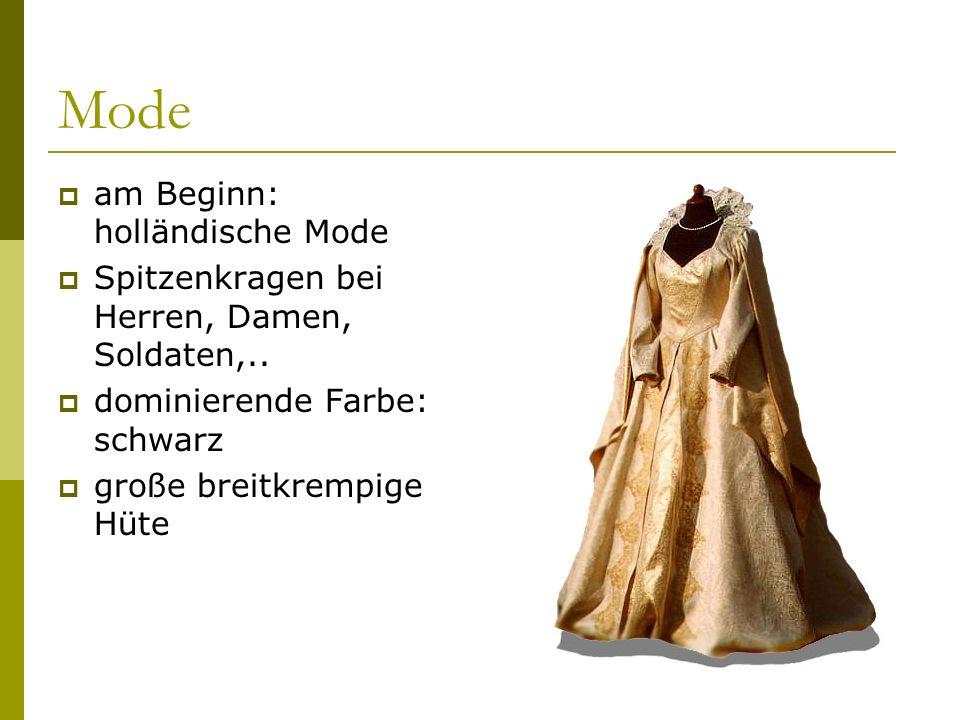 Mode am Beginn: holländische Mode
