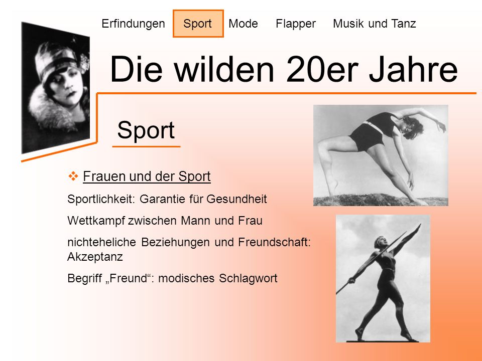 Die wilden 20er Jahre Sport Frauen und der Sport
