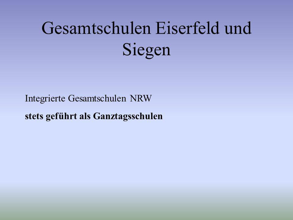 Gesamtschulen Eiserfeld und Siegen