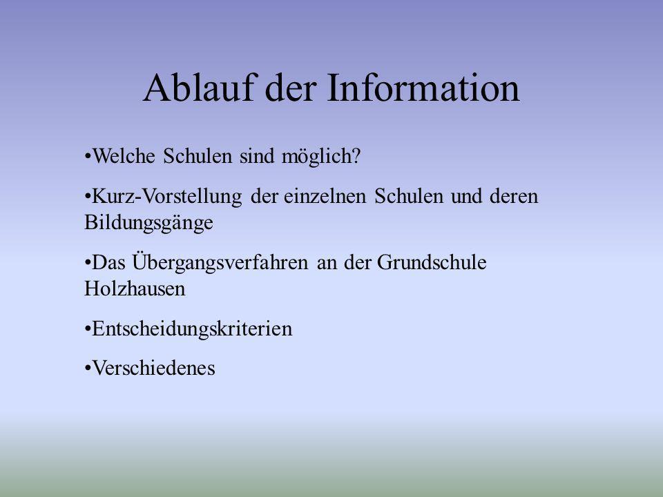 Ablauf der Information