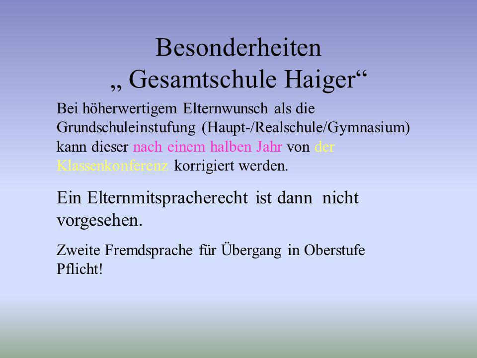 """Besonderheiten """" Gesamtschule Haiger"""