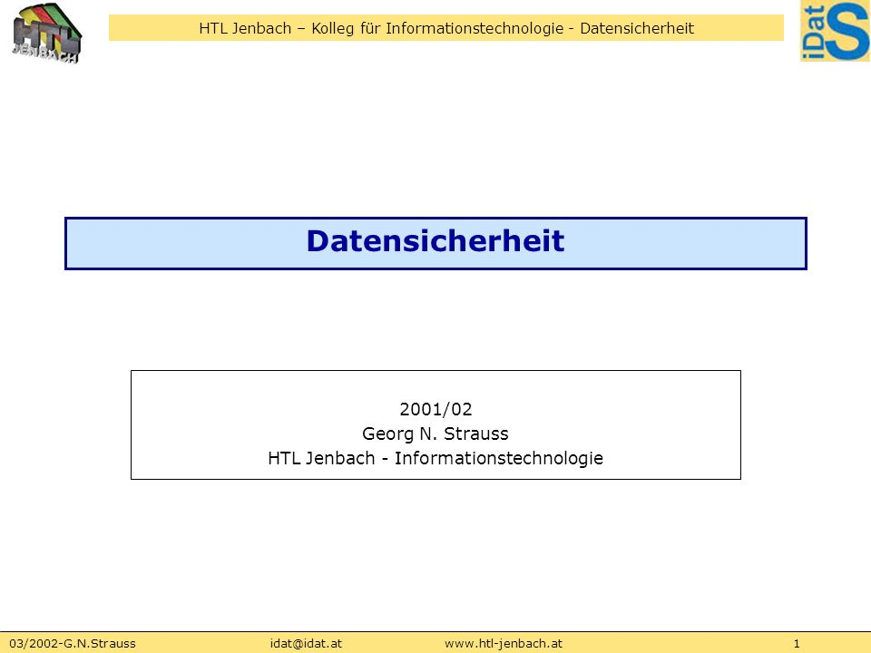 2001/02 Georg N. Strauss HTL Jenbach - Informationstechnologie