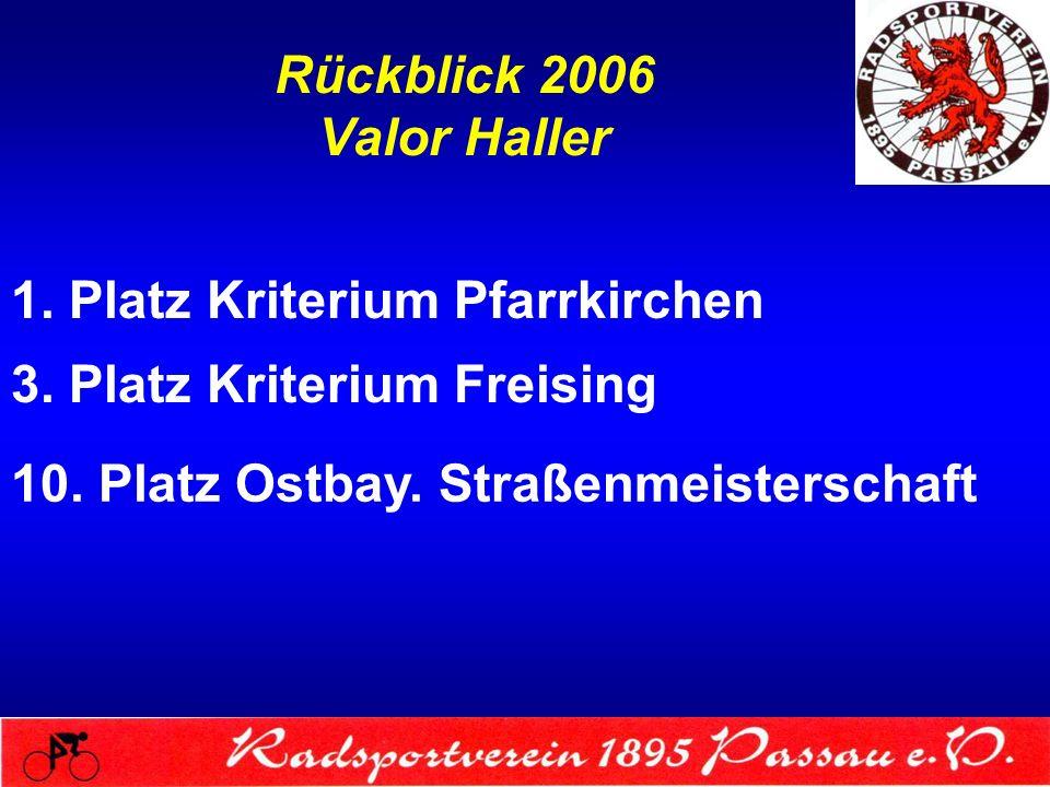Rückblick 2006 Valor Haller