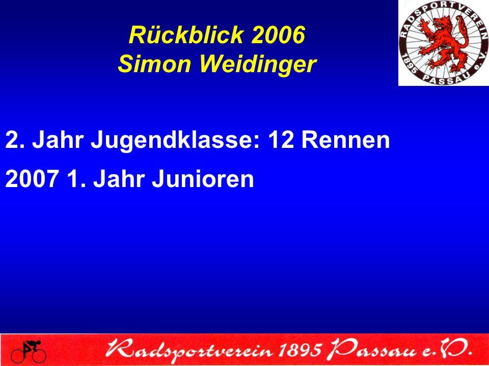 Rückblick 2006 Simon Weidinger