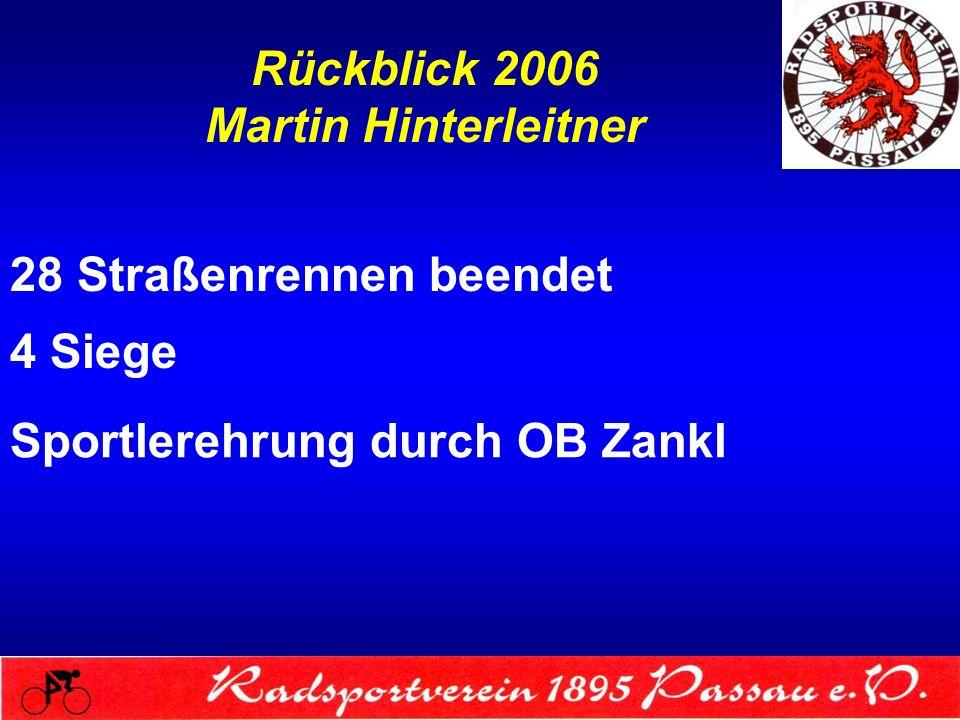Rückblick 2006 Martin Hinterleitner