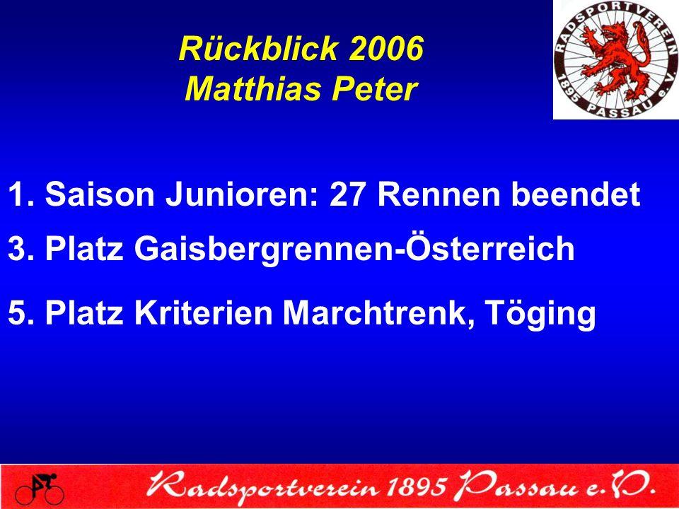 Rückblick 2006 Matthias Peter