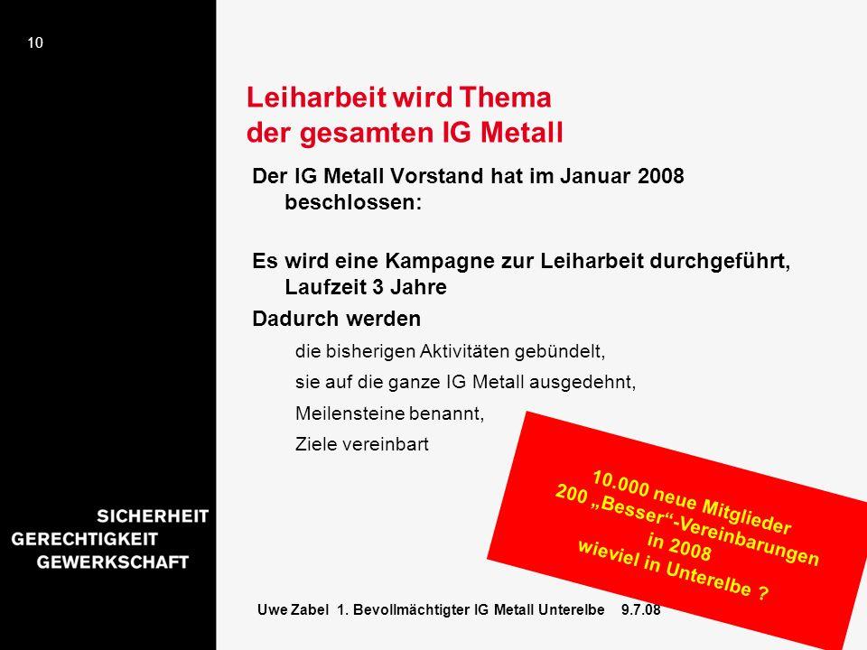 Leiharbeit wird Thema der gesamten IG Metall