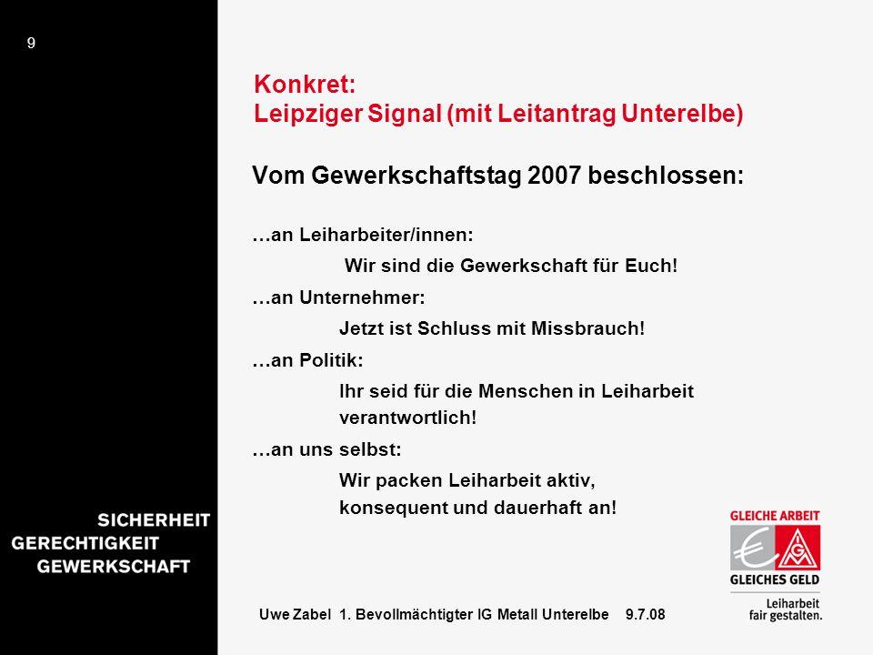 Konkret: Leipziger Signal (mit Leitantrag Unterelbe)