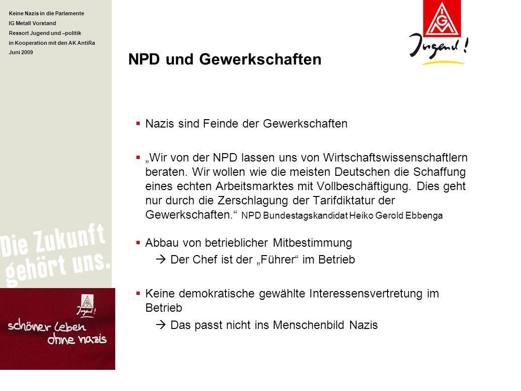 NPD und Gewerkschaften