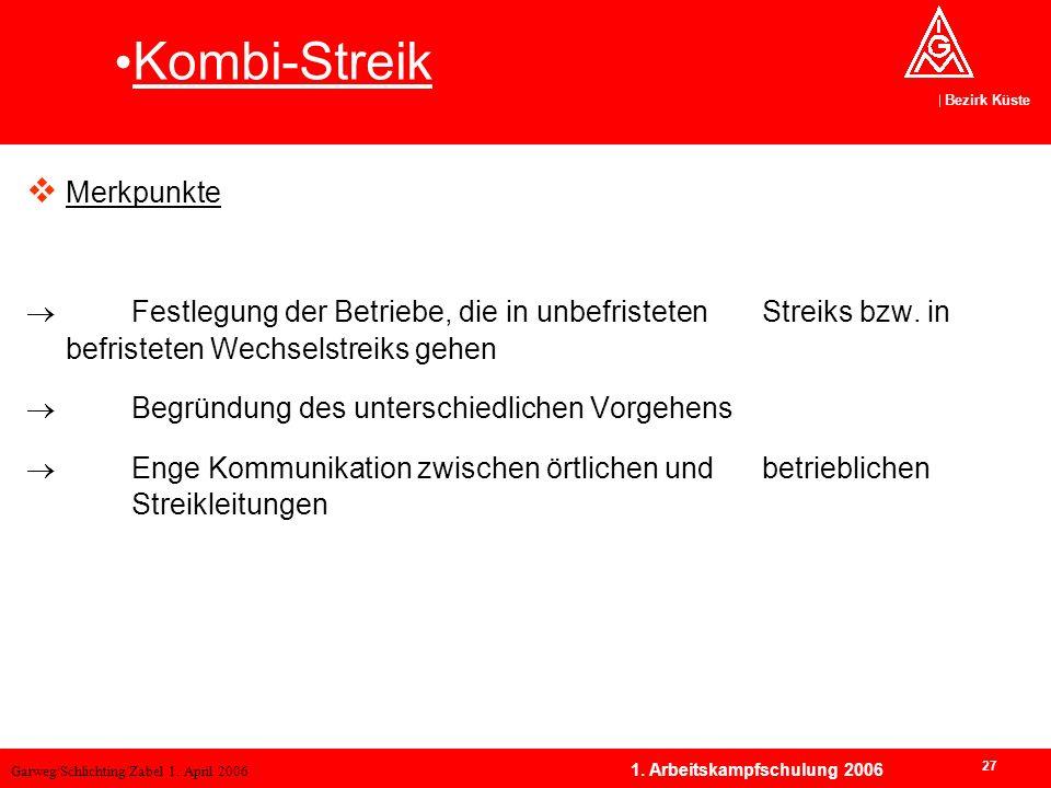 Kombi-Streik Merkpunkte