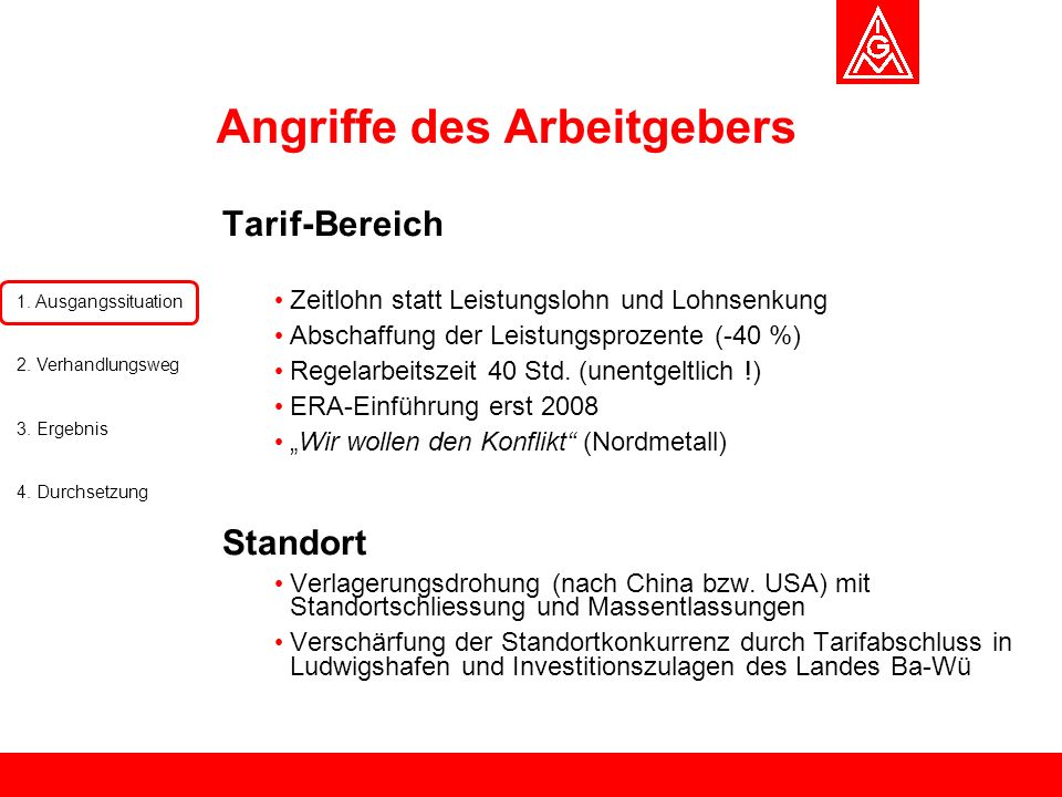 Angriffe des Arbeitgebers