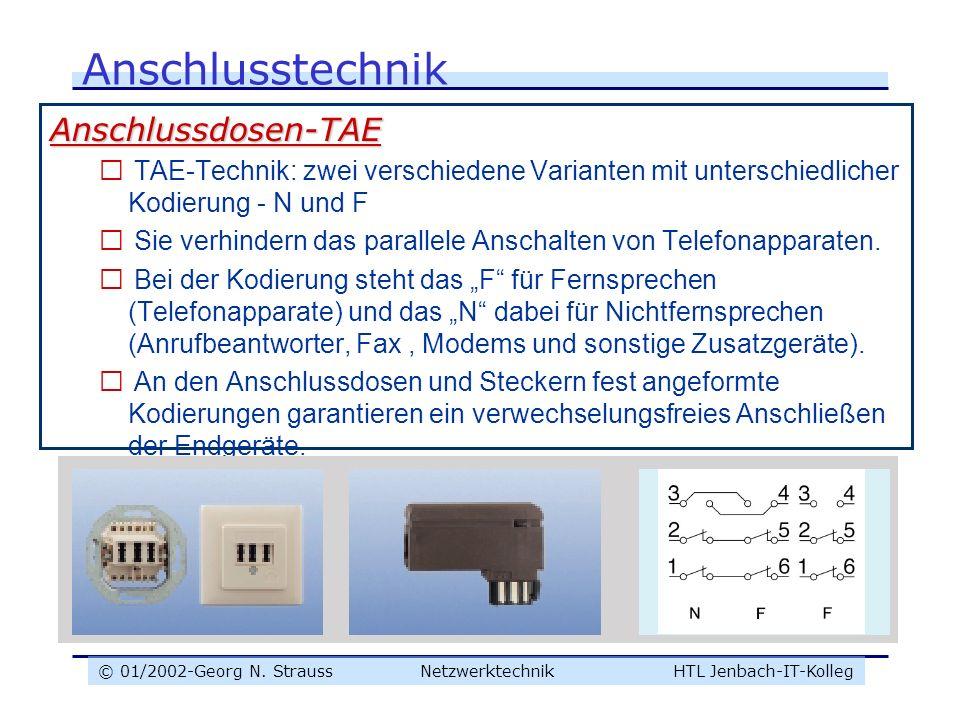 Anschlusstechnik Anschlussdosen-TAE