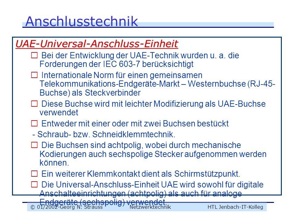 Anschlusstechnik UAE-Universal-Anschluss-Einheit