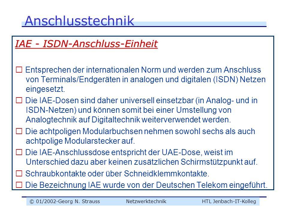 Anschlusstechnik IAE - ISDN-Anschluss-Einheit