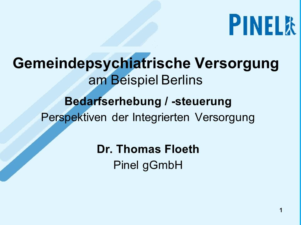Gemeindepsychiatrische Versorgung am Beispiel Berlins