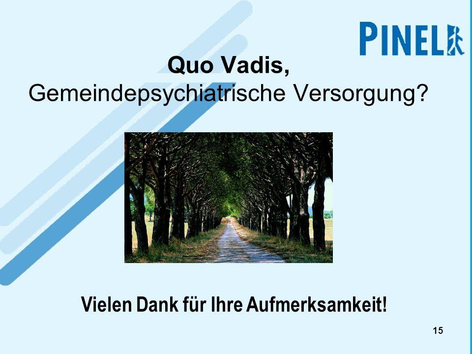 Quo Vadis, Gemeindepsychiatrische Versorgung