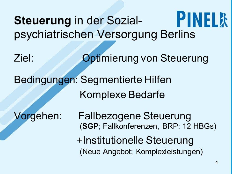 Steuerung in der Sozial- psychiatrischen Versorgung Berlins