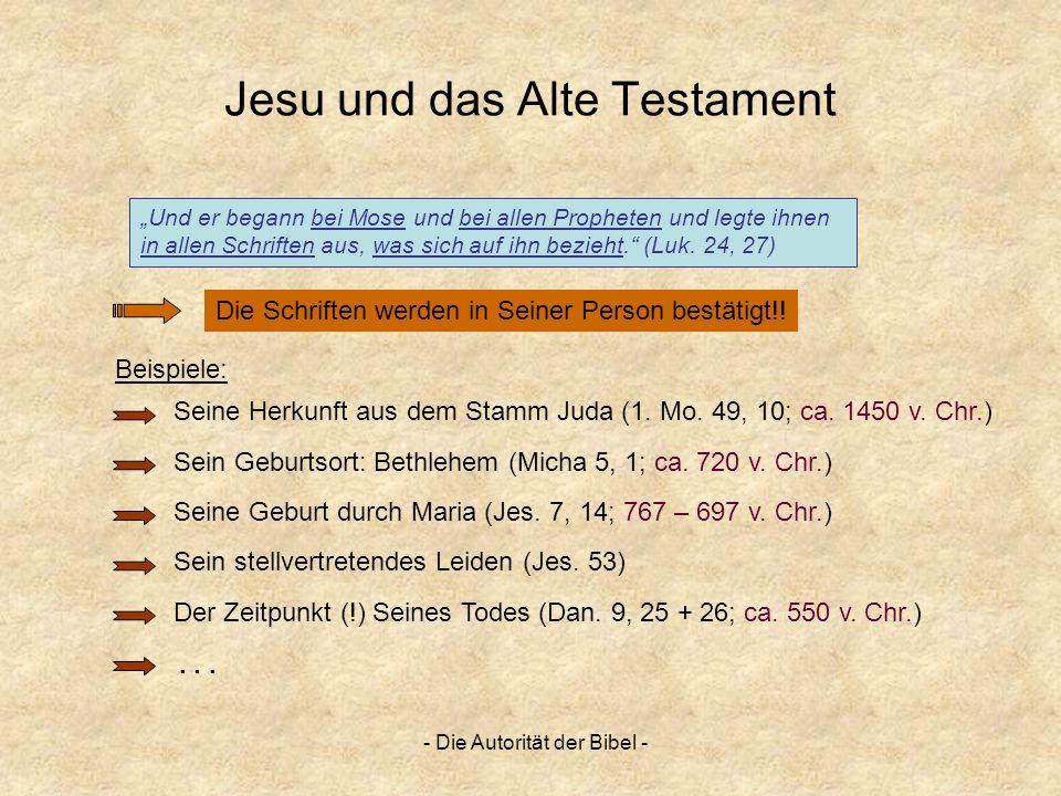 Jesu und das Alte Testament