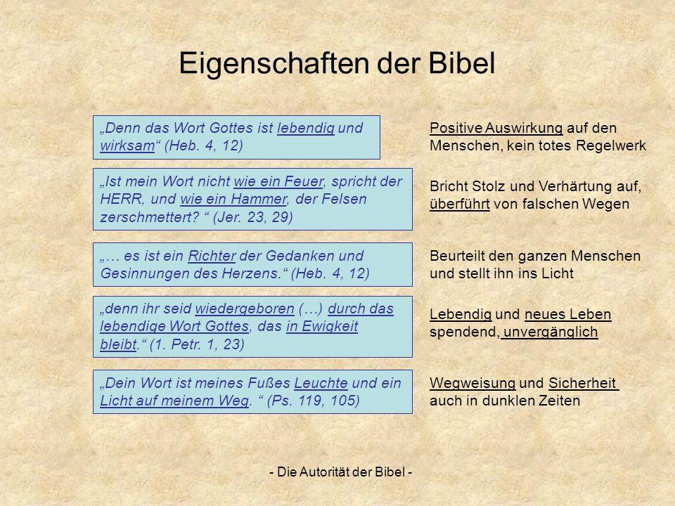 Eigenschaften der Bibel