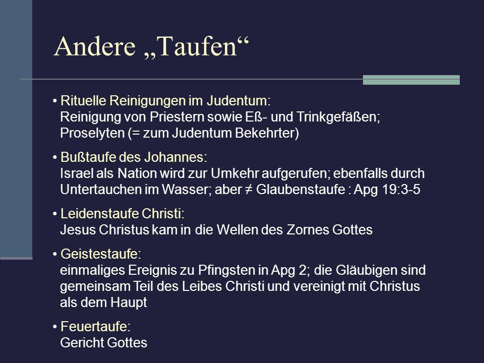 """Andere """"Taufen Rituelle Reinigungen im Judentum:"""