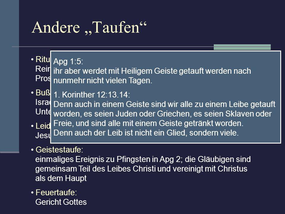 """Andere """"Taufen Rituelle Reinigungen im Judentum: Apg 1:5:"""