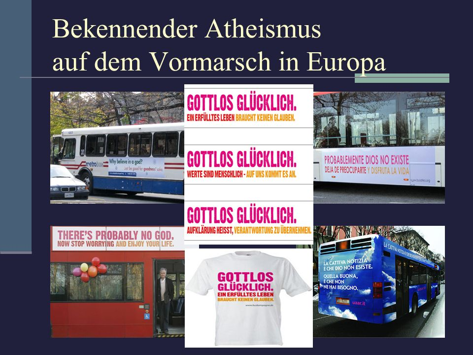 Bekennender Atheismus auf dem Vormarsch in Europa
