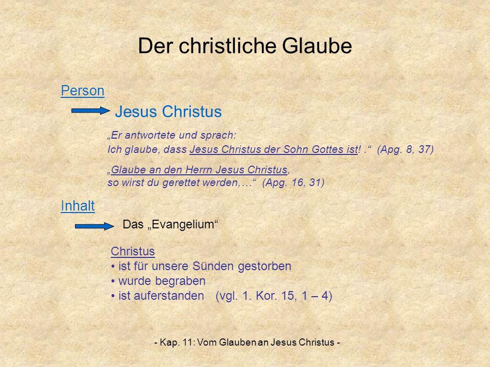 Der christliche Glaube
