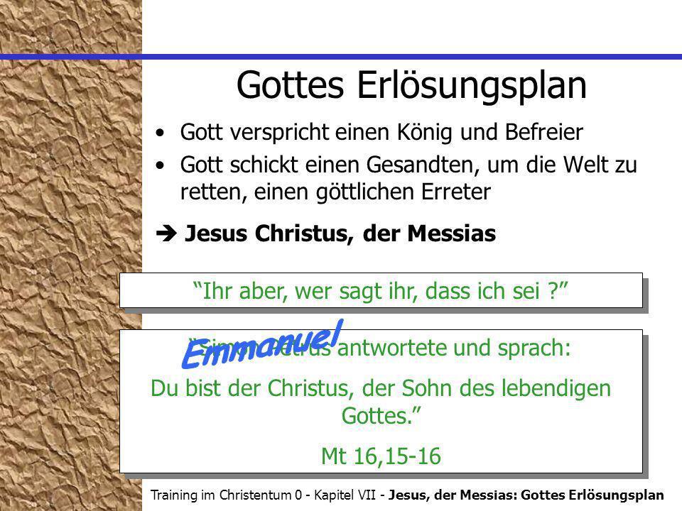 Gottes Erlösungsplan Emmanuel Gott verspricht einen König und Befreier
