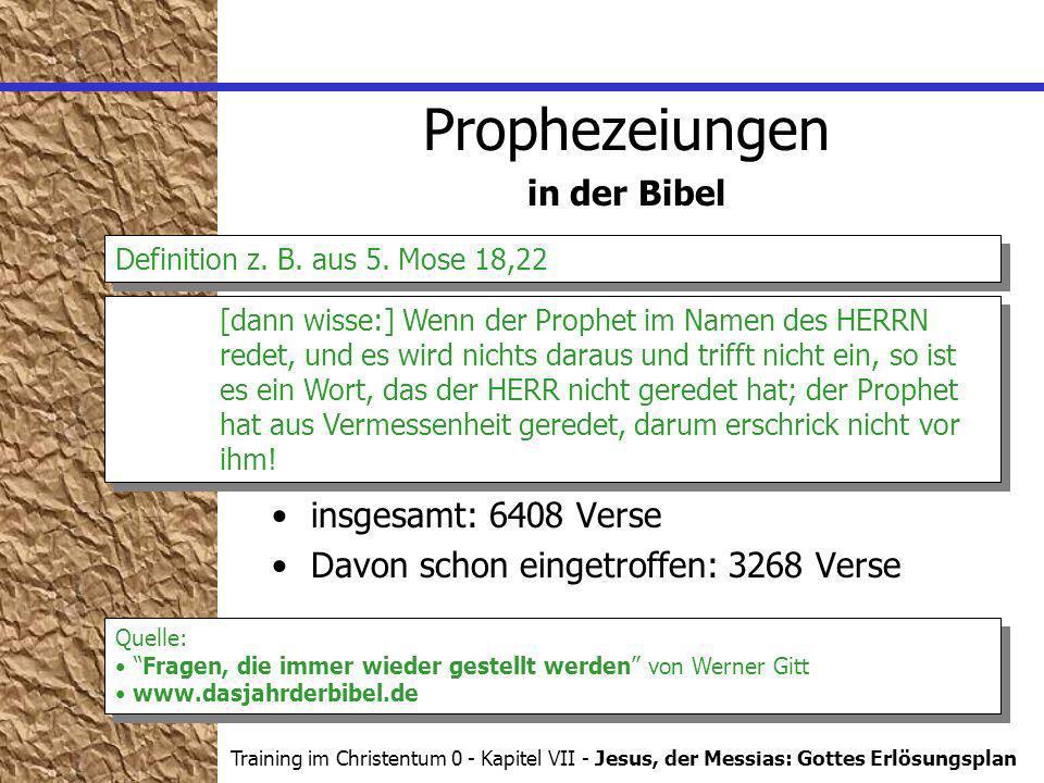 Prophezeiungen in der Bibel insgesamt: 6408 Verse