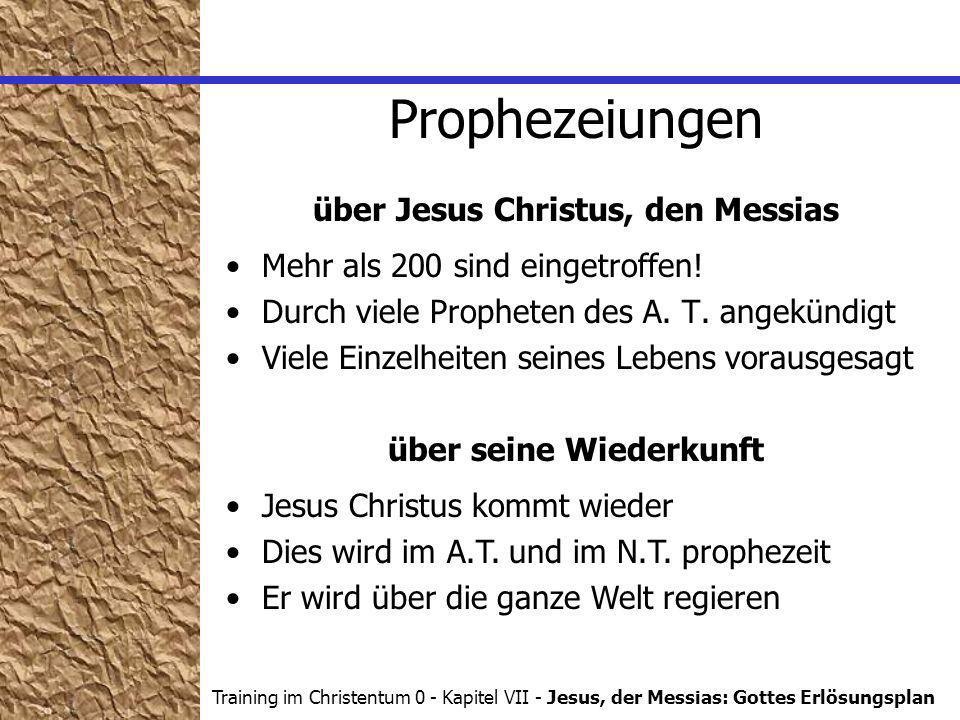 über Jesus Christus, den Messias über seine Wiederkunft