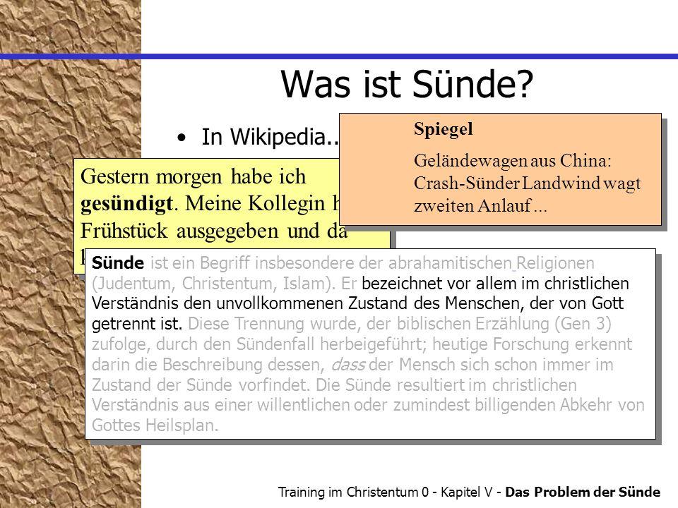 Was ist Sünde In Wikipedia... Im Alltag...