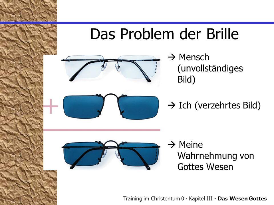 Das Problem der Brille  Mensch (unvollständiges Bild)