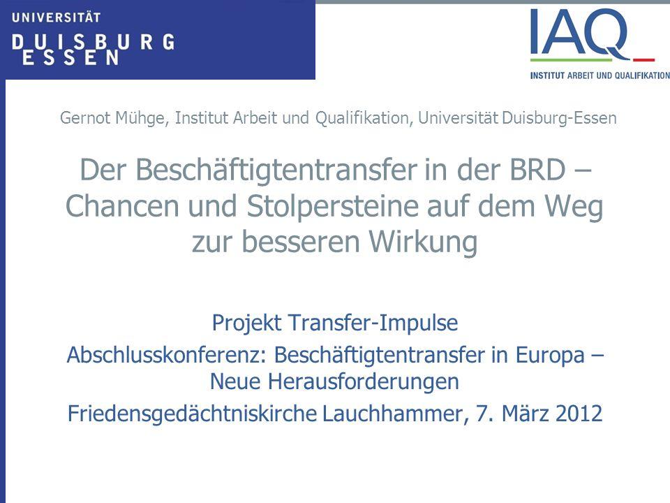 Gernot Mühge, Institut Arbeit und Qualifikation, Universität Duisburg-Essen