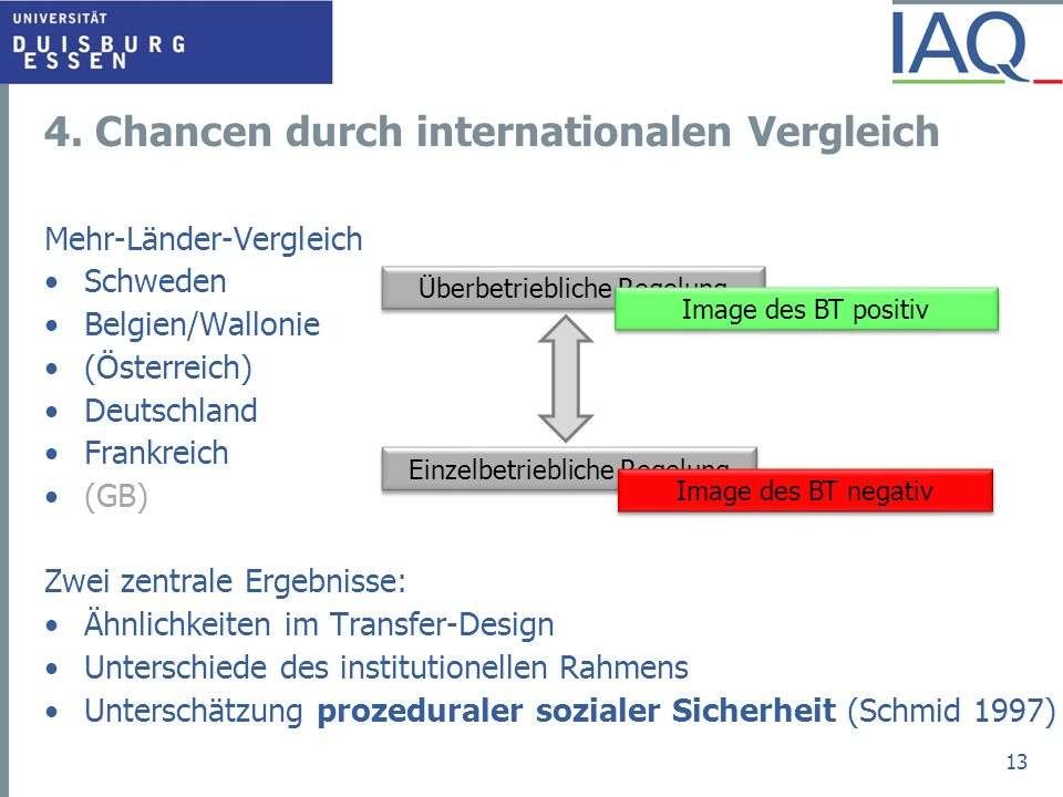 4. Chancen durch internationalen Vergleich