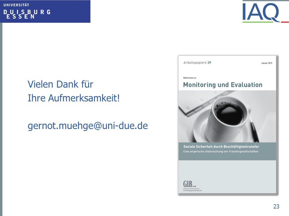 Vielen Dank für Ihre Aufmerksamkeit! gernot.muehge@uni-due.de