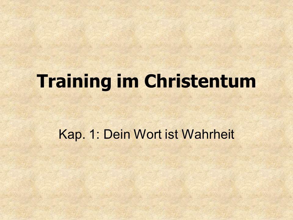 Training im Christentum