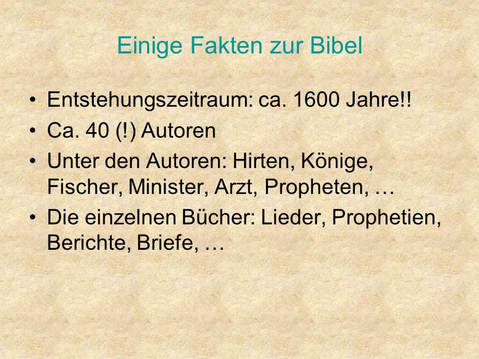 Einige Fakten zur Bibel