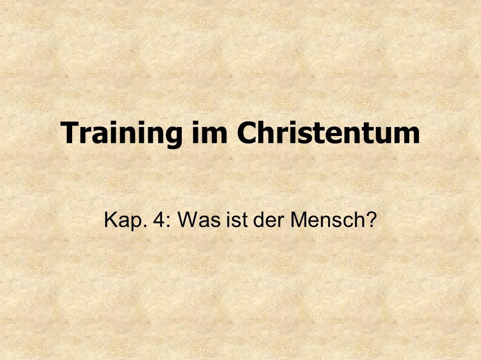 Training im Christentum