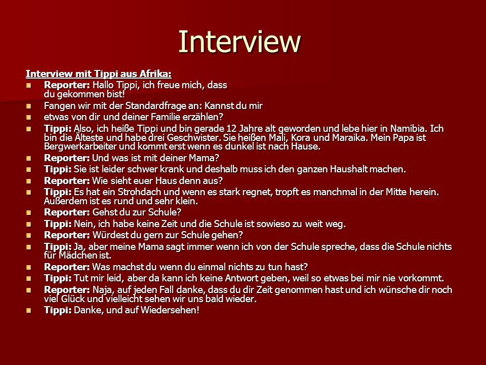 Interview Interview mit Tippi aus Afrika: