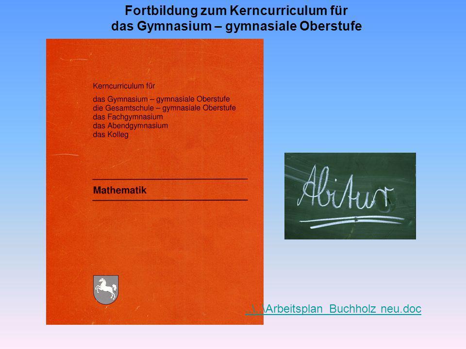Fortbildung zum Kerncurriculum für