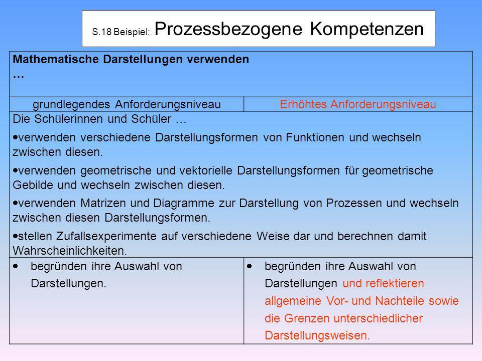 S.18 Beispiel: Prozessbezogene Kompetenzen