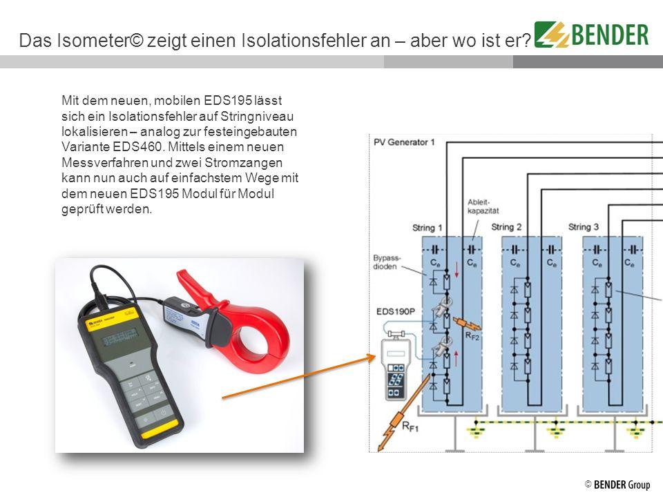 Das Isometer© zeigt einen Isolationsfehler an – aber wo ist er